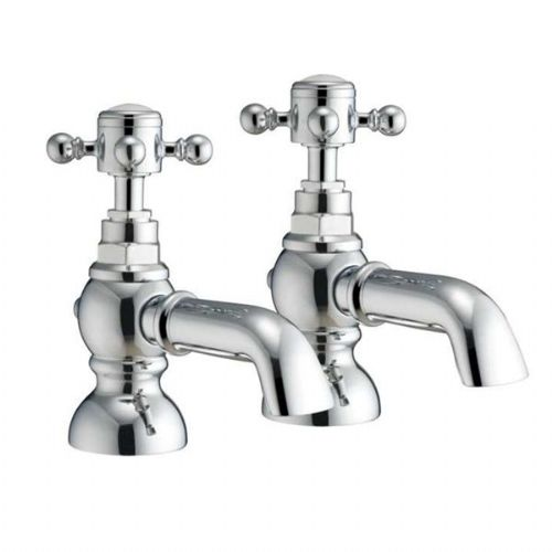 Abacus Kensington Deck Mounted Bath Pillar Tap - Pair - Chrome